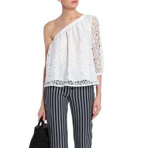 ae5f3a1f828b8b ... Rebecca Minkoff Harmony One Shoulder Lace Top S ...
